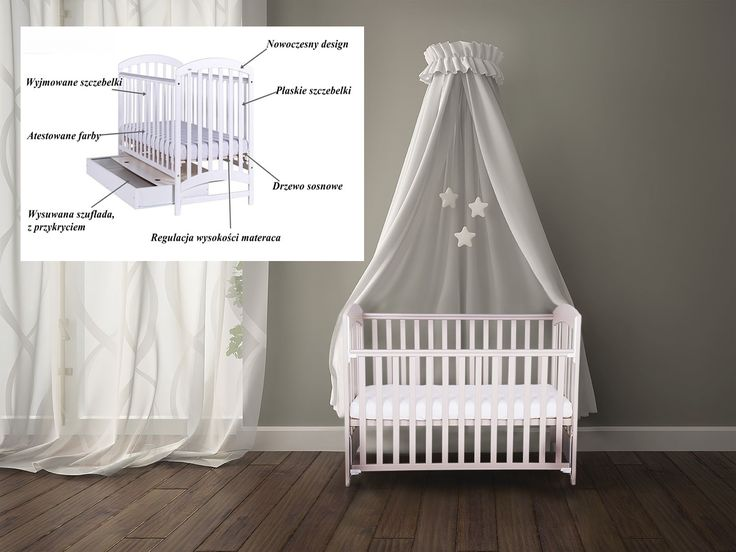 Największy wybór łóżeczek dziecięcych wmamaania.com.pl  Tutaj przedstawiamy: Łóżeczko ADEL z szufladą / opuszczanym bokiem bądź w standardzie
