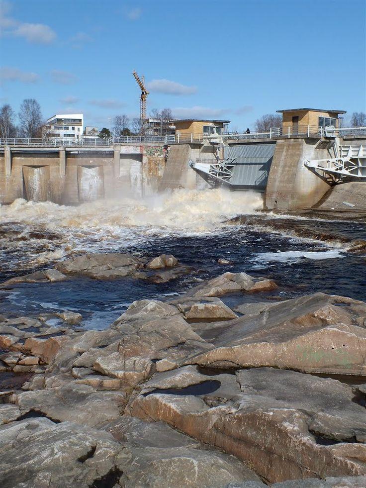 Finland, Oulu Oulujoki kevään tulvajuoksutus 2015