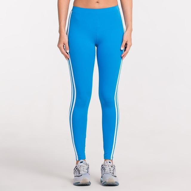 Fitness Junkies Leggings: Striped Gym Leggings