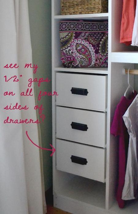 DIY drawers for Ana White's closet organizer