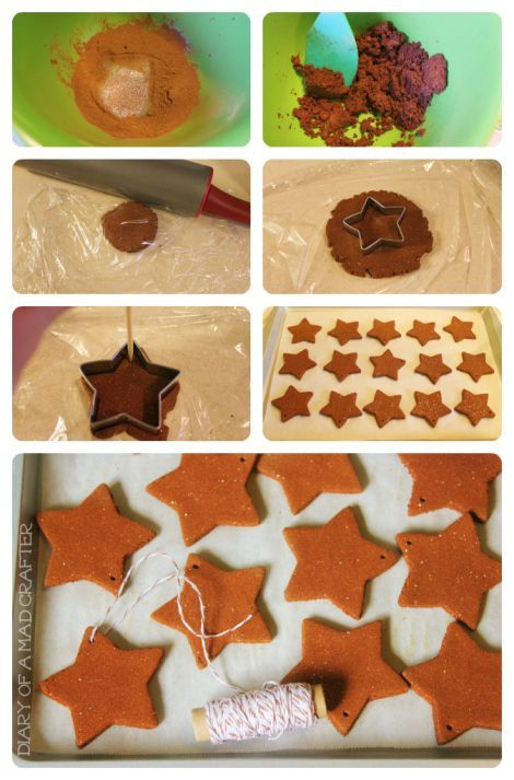 NO COOK cinnamon salt dough ornament recipe- these ornaments smell amazing, are easy to make, and are so fun for kids! Description from pinterest.com. I searched for this on bing.com/images
