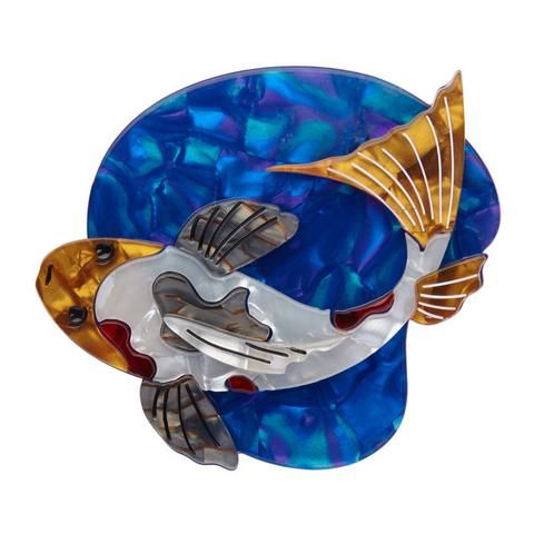 "Erstwilder Collectable Nishikigoi Brooch. ""Koi ponds and water gardens are my habitat of choice. Although I've also been known to appear in tattoo form."""
