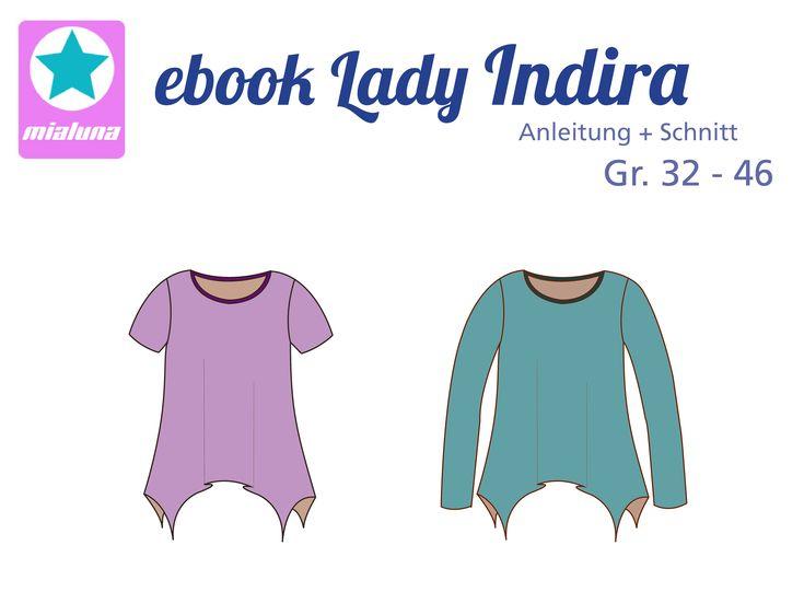 Ebook Damenshirt Zipfelshirt Lady Indira Gr.32-46