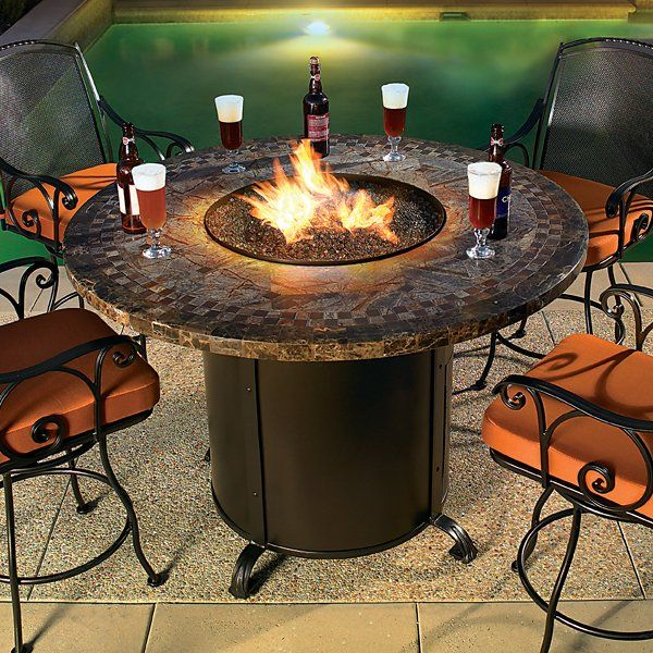 53 best bar height patio furniture images on pinterest decks bar height fire pit and perfect for smores and wine watchthetrailerfo