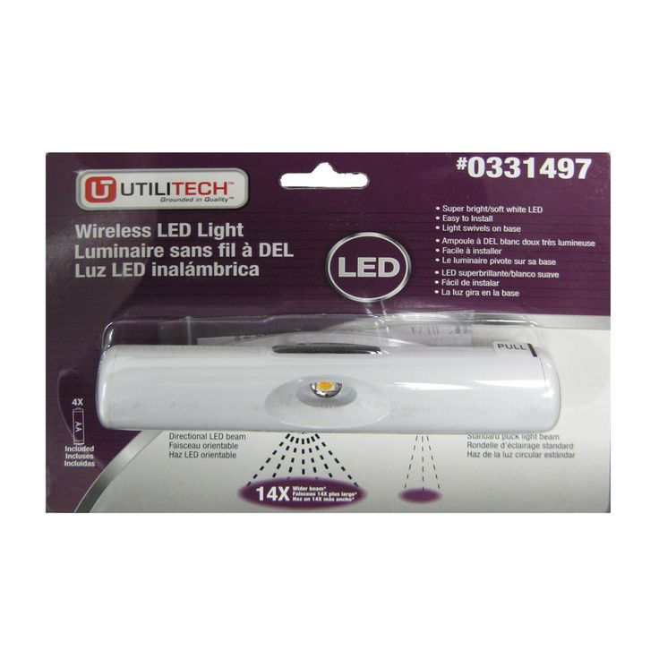 Shop Utilitech 6 In Battery Operated Under Cabinet LED Light Bar At  Lowes.com