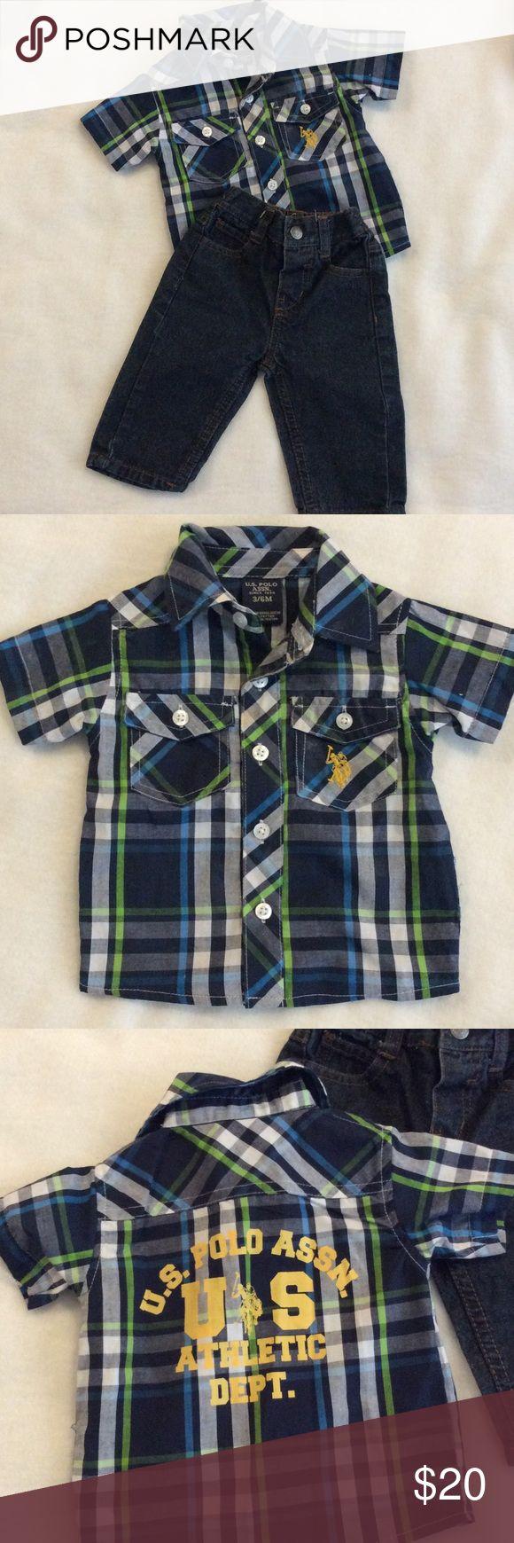 Cute Polo Boys Jeans & Shirt Outfit Shirt & Jeans Bundle. Excellent Condition. U.S. Polo ASSN Matching Sets