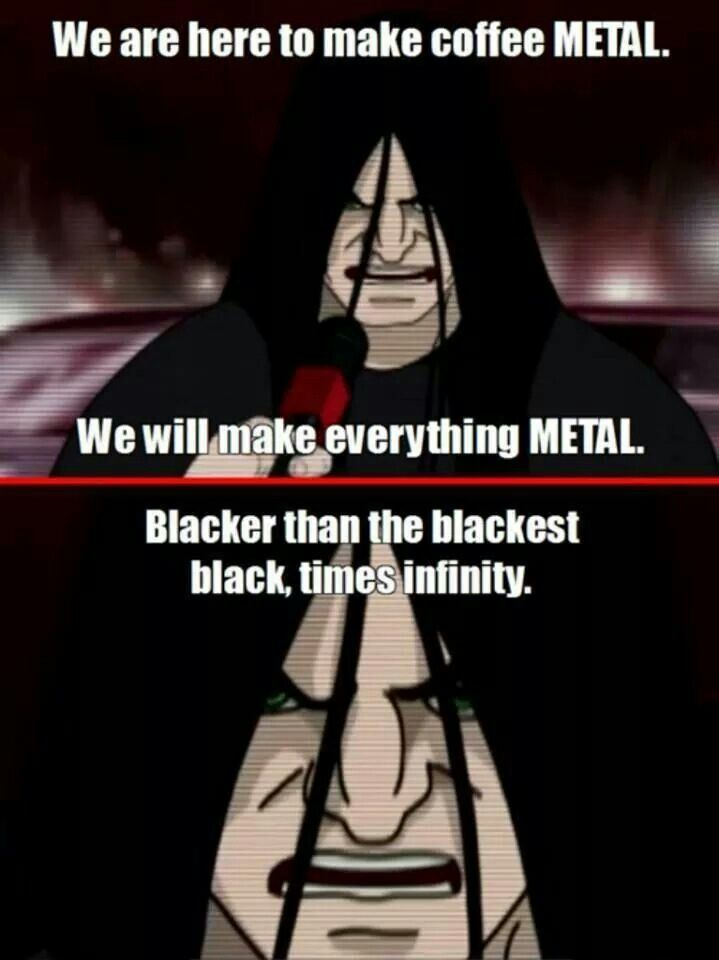 Metalocalypse Dethklok Make everything metal! ~Lulladies