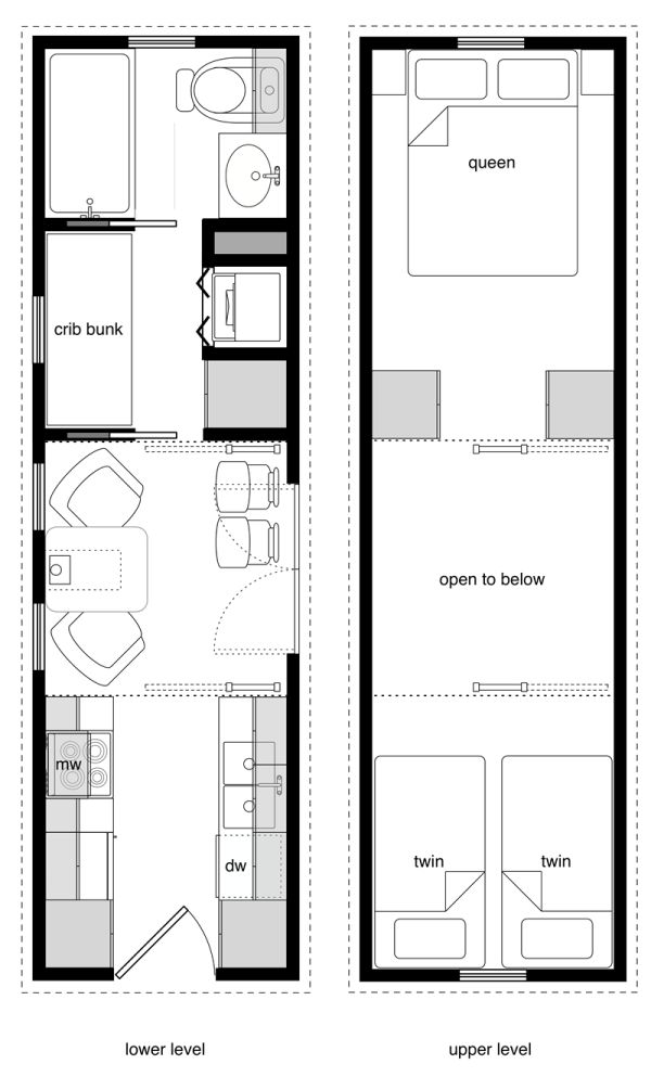 8x28 Family Tiny House Floor Plans Tiny House Layout Tiny House Plans