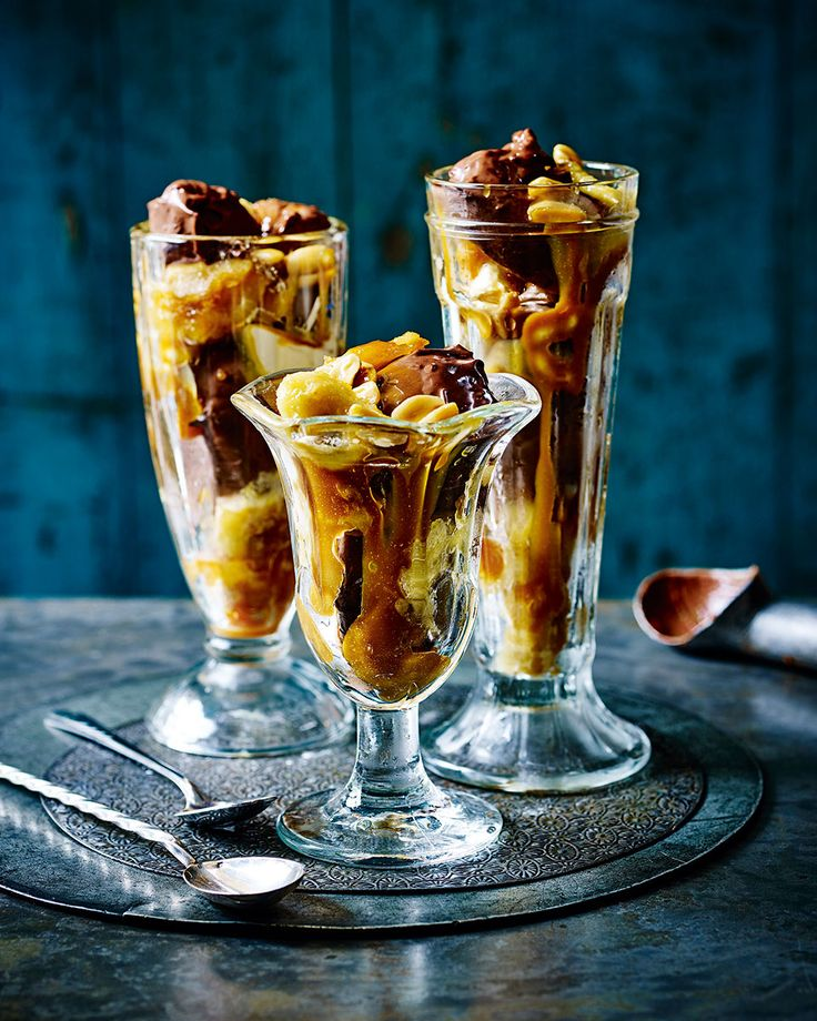 Use our recipe for no-churn chocolate truffle ice cream to make this sundae even more decadent