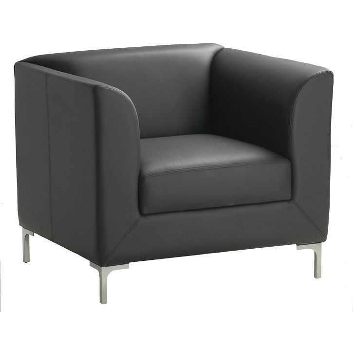 Madrid is a stylish Reception chair, ergonomically contoured and manufactured with High Density Moulded Foam and polished aluminium legs #seated #madrid #lounge #couch seated.com.au