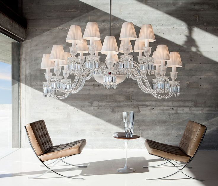 Contemporary chandelier by arik levy crystal ellipse baccarat