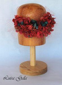 Detalle de flor preservada en varios tonos y paniculata con velo Luisa Gala