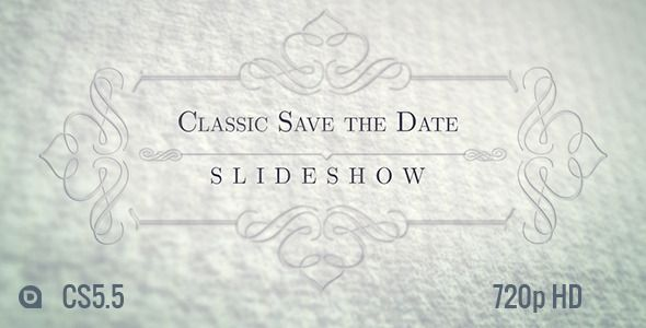 Classic Save the Date Slideshow