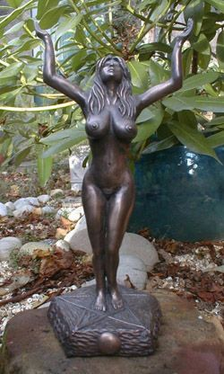 #Goddess Statue with arms upraised, full-figure ~ Wyrdshop ... #witch #pagan
