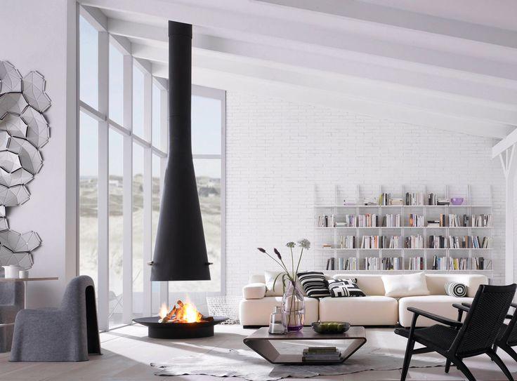 Oltre 25 fantastiche idee su interni moderni su pinterest bagni moderni arredo interni cucina for Camini da arredo senza canna fumaria