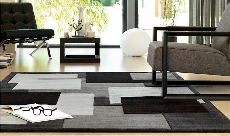 Tappeto Arte Espina grigio e nero