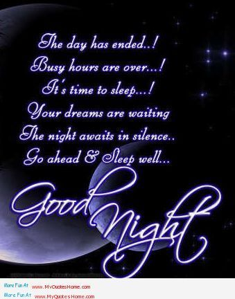 Sweetdreamsquotes The Day Ended With Sweet Day Good Night