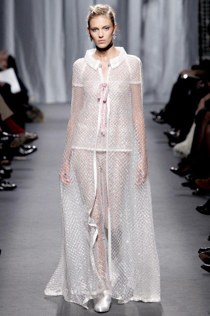 Chanel Spring 2011 Couture Fashion Show - Anja Rubik