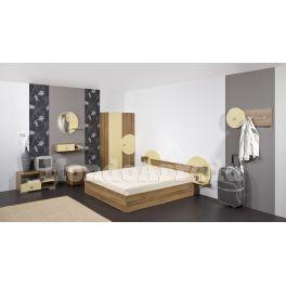 rredamento per camere d'albergo matrimoniale modello SANTORINI - elegante, robusta ed accogliente, in miglior rapporto prezzo - qualita, per alberghi, hotel, agriturismi, case vacanza, appartamenti vacanza, bungalow, motel, bed & beakfast, pensioni.
