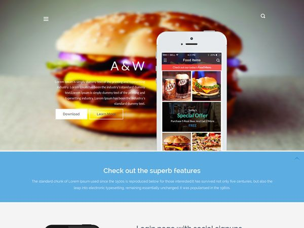 A&W Landing Page Template