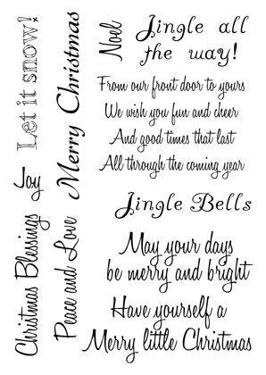 Christmas Sentiments for Handmade Cards | Christmas Sentiments