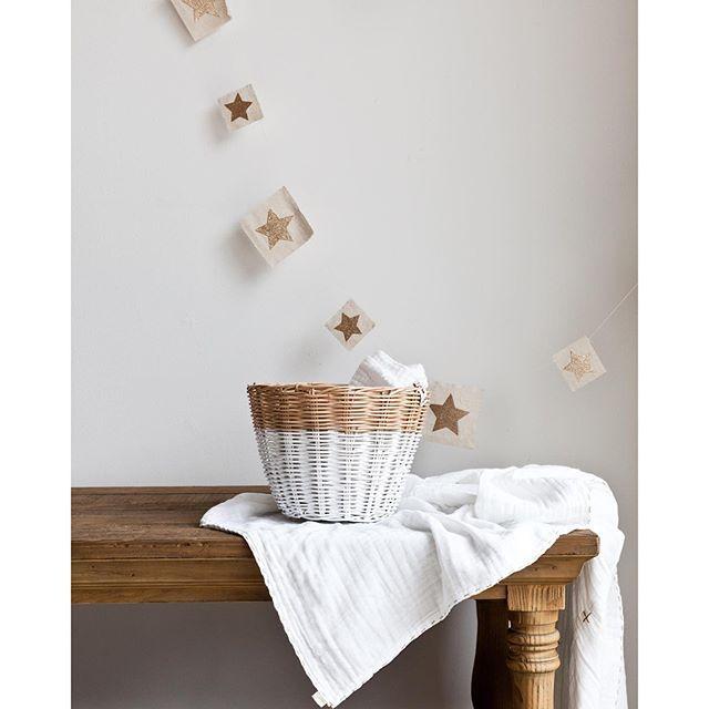 numero74 small basket & Glitter star garland limited edition Photo taken by @minibyluna on Instagram