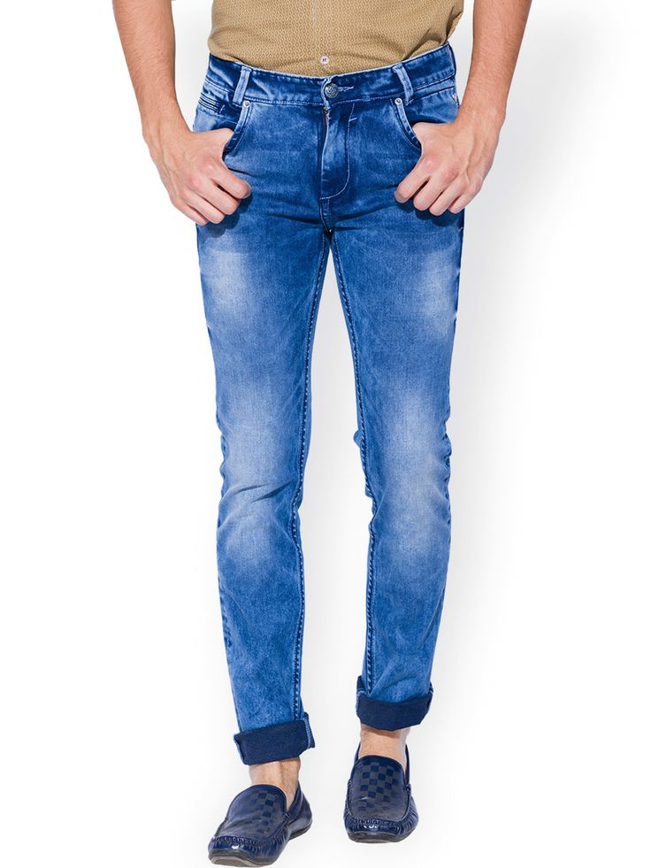 Mufti Narrow Fit Casual Wear Light Blue Men Denim Jeans