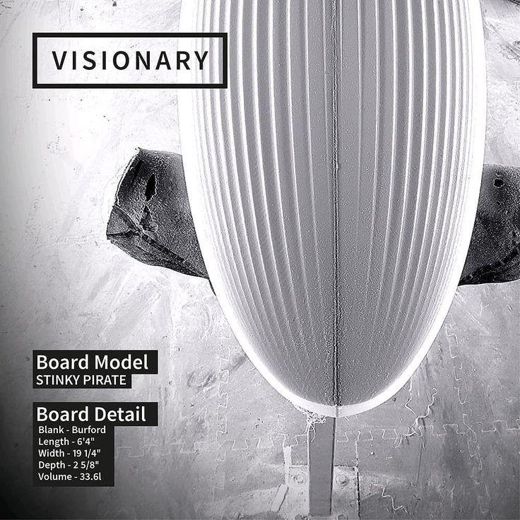 Custom Stinky Pirate shortboard. #visionary #custommade #customisking #shortboard #surfboard #surfboards #madetoorder #madeinengland http://ift.tt/19MEsb6