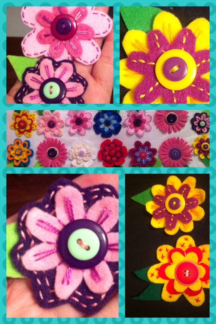 Flores paño lenci