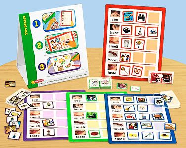 With Lakeshore's Five Senses Instant Learning Center, children explore the 5 senses at their own pace—as they sort fun photo images onto their activity mats!