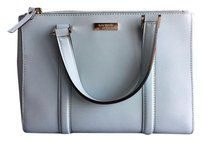 Kate Spade Ny Handbags Blue Satchel in Light Blue | On sale at Tradesy! This Kate Spade handbag is perfect for spring and in near mint condition from lack of use after purchase. #Katespade #KateSpadeNewYork #designer #designerhandbags #handbags #sale #fashion #womensfashion #style #womensstyle #springfashion #designersale #discount #tradesy #tradesyfashion