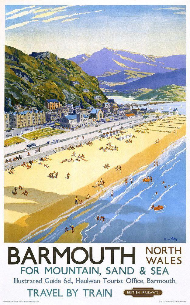 British Rail barmouth Railway Poster A3 A2 Print