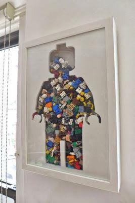 Mon bonhomme LEGO Trouvez pleins d'autres idées déco récup'sur le blog : MONSIEUR RÉCUP'
