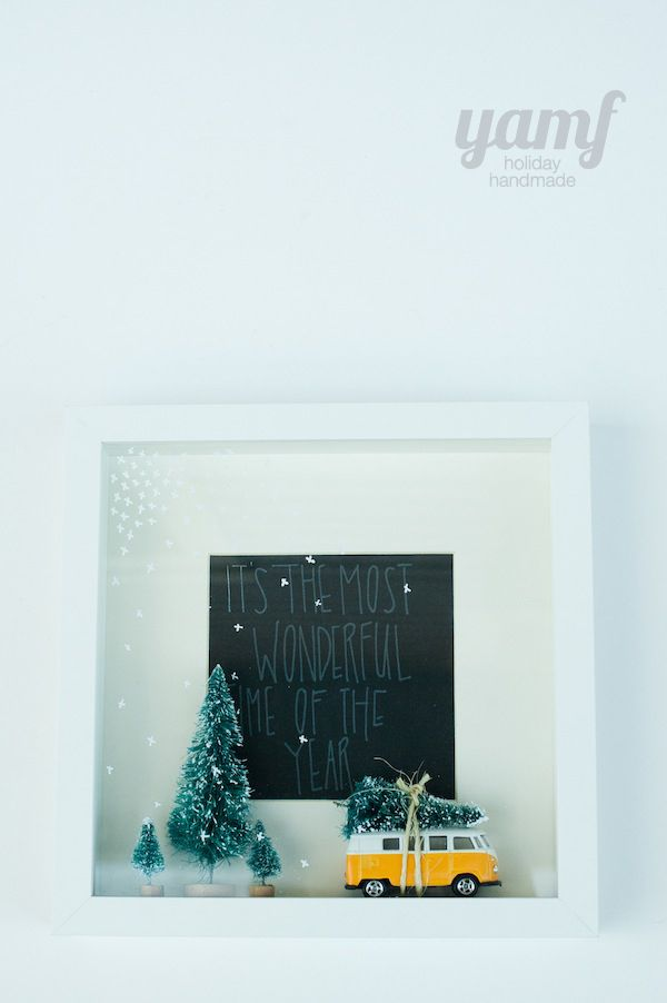 holiday shadowbox