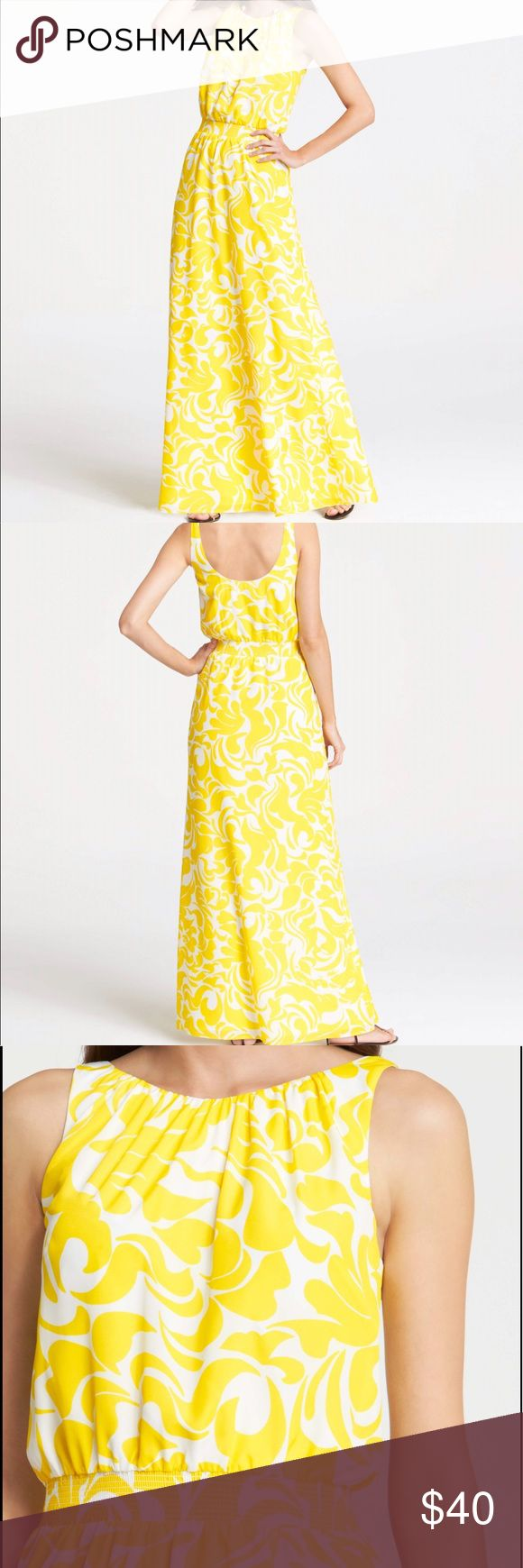 Selling this Ann Taylor Yellow Maxi Dress on Poshmark! My username is: emalmberg. #shopmycloset #poshmark #fashion #shopping #style #forsale #Ann Taylor #Dresses & Skirts