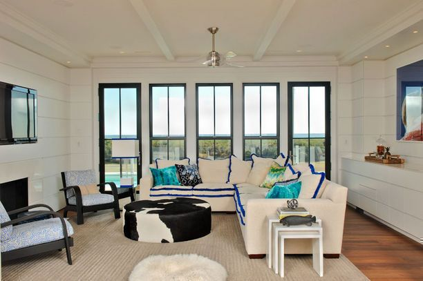 Oceanfront Luxury- Custom Designed Home :: Herlong & Associates :: Coastal Architects, Charleston, South Carolina: Association Architecture, Living Rooms, Window, Beaches Coastal, 2014 Herlong, Coastal Architects, Design Copyright, White Built In, Charleston South Carolina