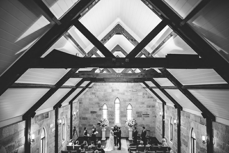 The Carriage House Chapel Chateau Elan Hunter Valley Wedding Ceremony. Image: Cavanagh Photography http://cavanaghphotography.com.au