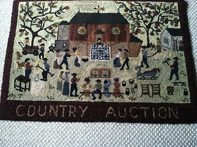 Hand Hooked Wool Rug  Peggy Teich  Amazing Detail