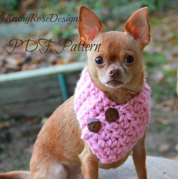 crochet pattern dog cowl~neckwarmer~scarf~chunky~ small~medium~large~easy fast~pdf digital download~instant download