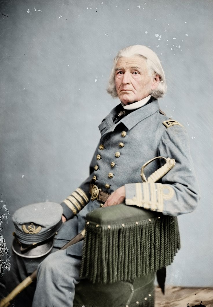 French Forrest, veteran of the War of 1812, the Mexican-American War, and in this photograph a Captain in the Confederate Navy during the American Civil War.