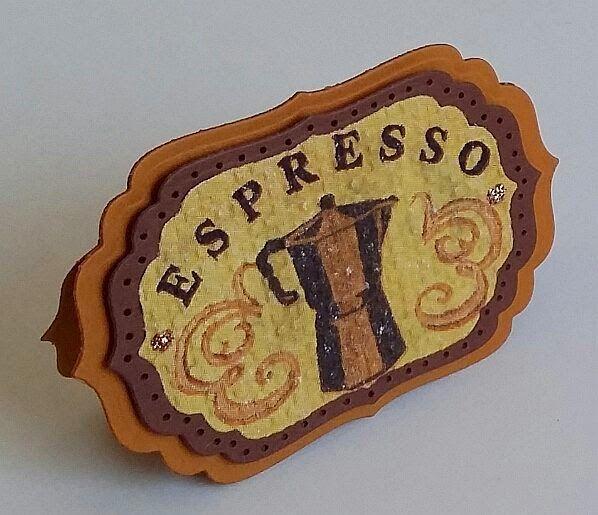 Serviettentechnik,  Spellbinders,  Shaped Cards, Espresso