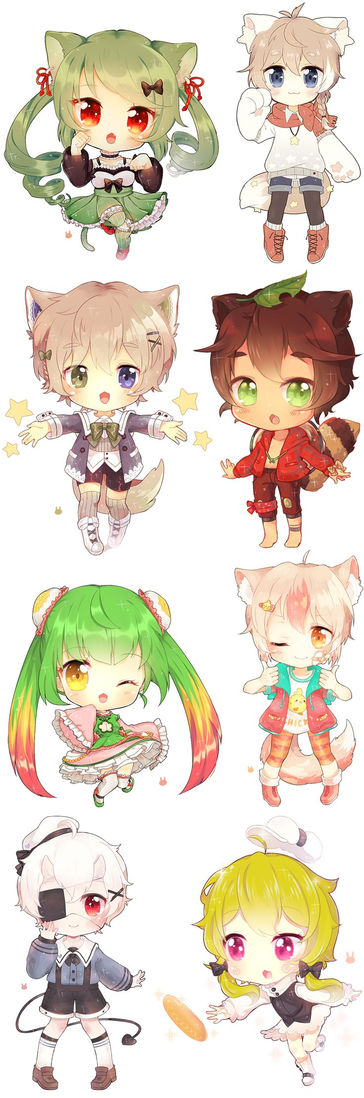 Name and adopt one of these cuties! I choose the 1st one in the second row from the left. I'll name him Sai!
