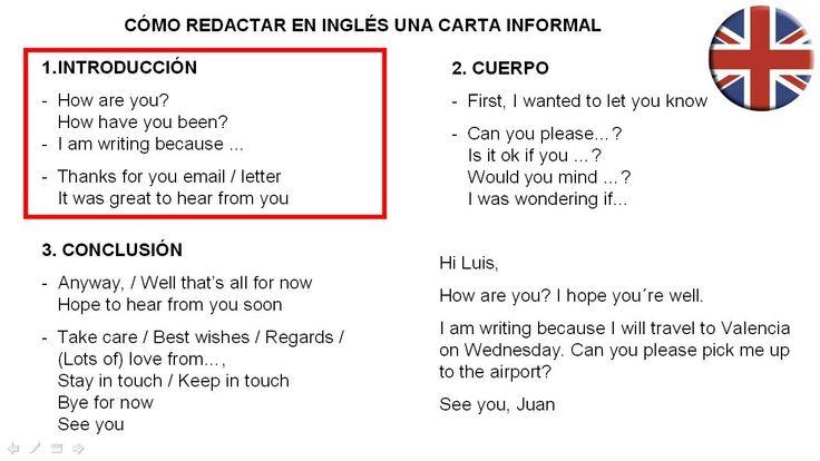 ... una carta en inglés como redactar una carta informal en inglés