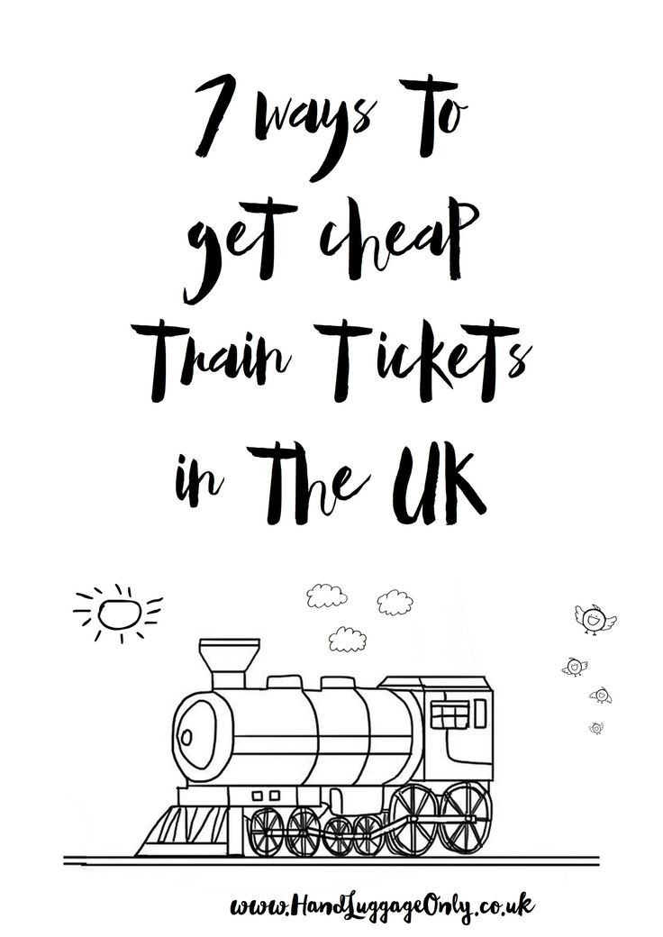 7 ways to get cheap train tickets in the uk