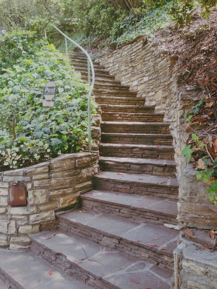Beautiful masonry work, stone stairs.