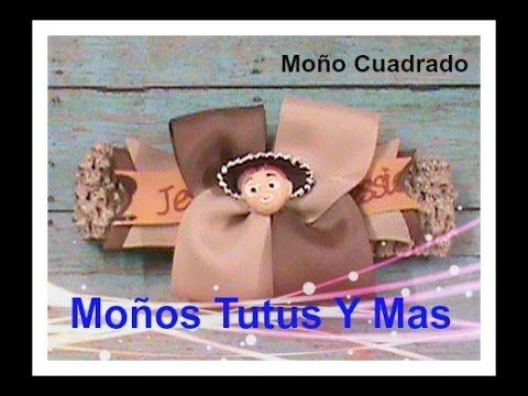 MOñO CUADRADO COMBINADO Paso a Paso 2-COLOR SQUARE BOW Tutorial DIY How ...