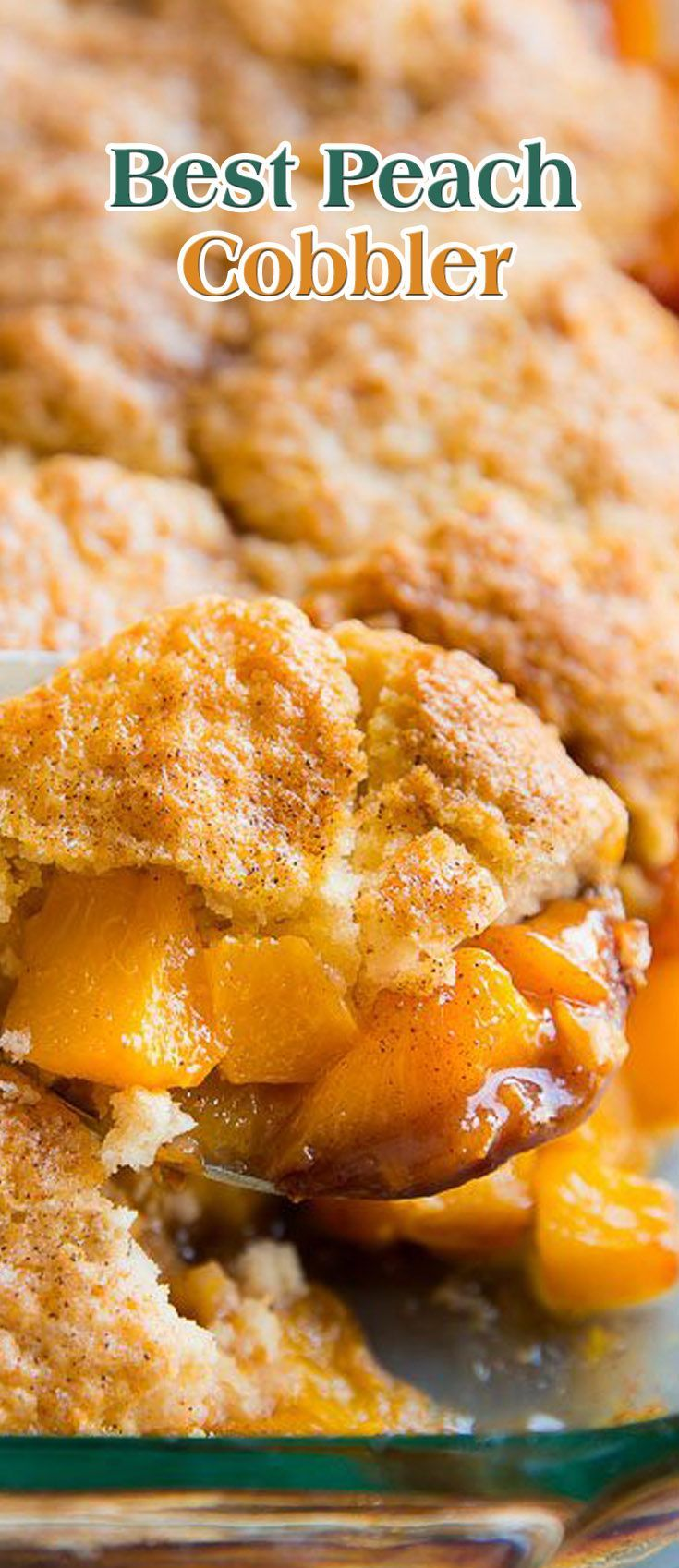 Best Peach Cobbler. #CompleteRecipes.com #recipe #recipes #food #foodgasm #cleaneating #healthyfood #healthy #healthyrecipes