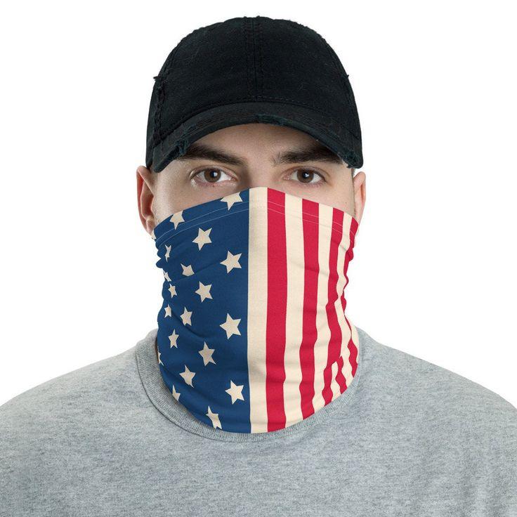 American flag neck gaiter american flag face mask gift