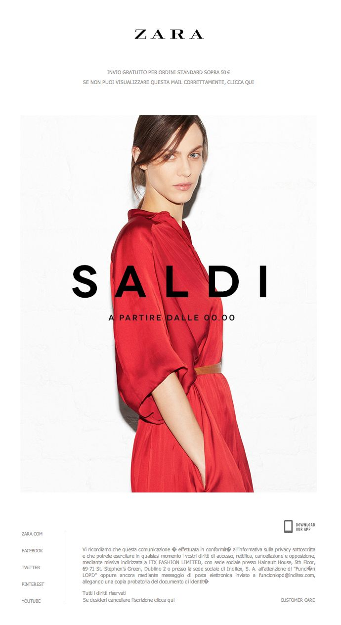Zara poster design -  Newsletter Sale Zara 07 2013