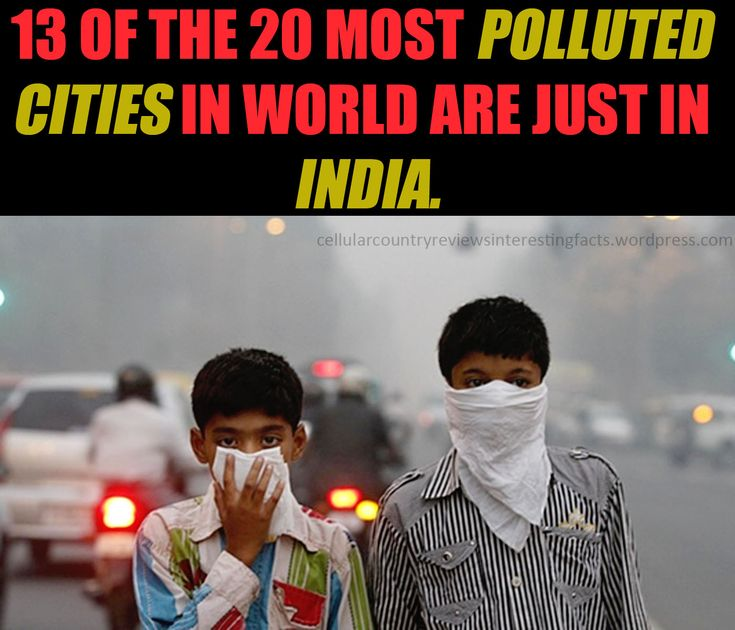 The 13 of the 20 most polluted cities in the world.